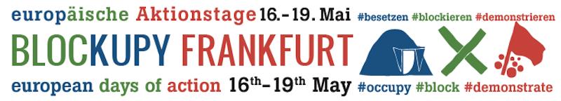 Blockupy Frankfurt header